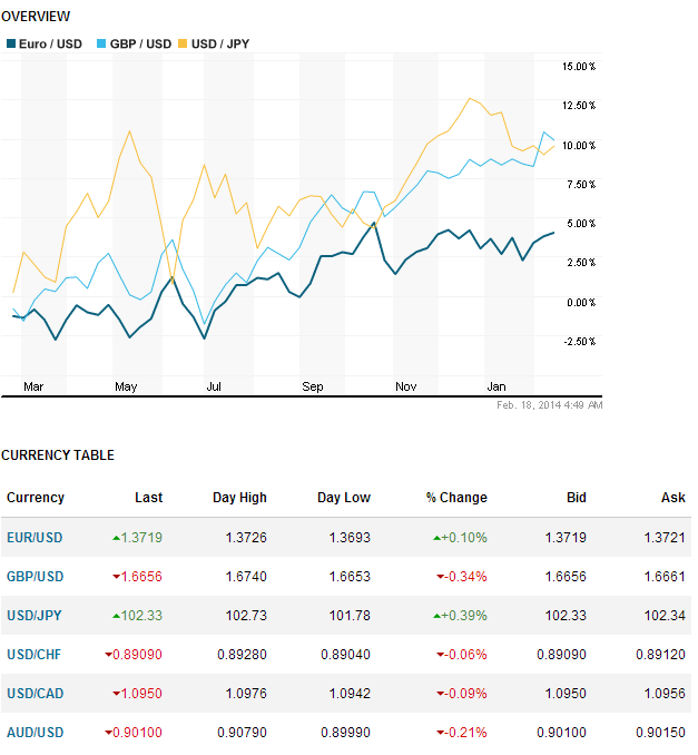 currency overview 18 Feb 2014