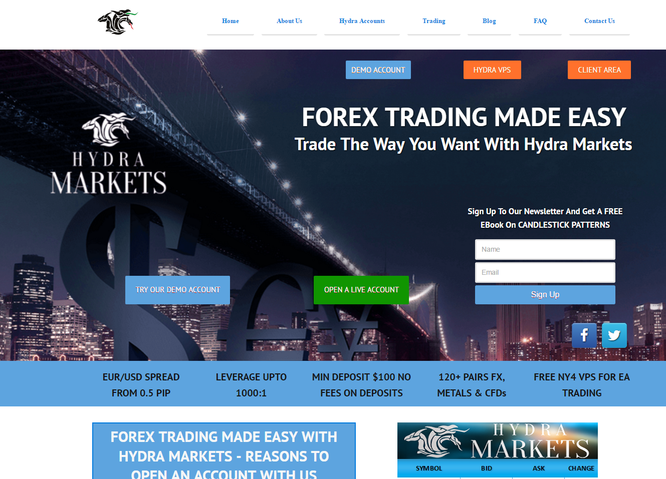 Hydra Markets Review