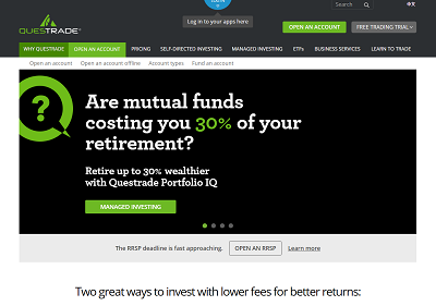 questrade review screenshot